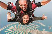 Skydiving Over Palm Jumeirah Dubai Holiday  , Dubai Holiday Packages