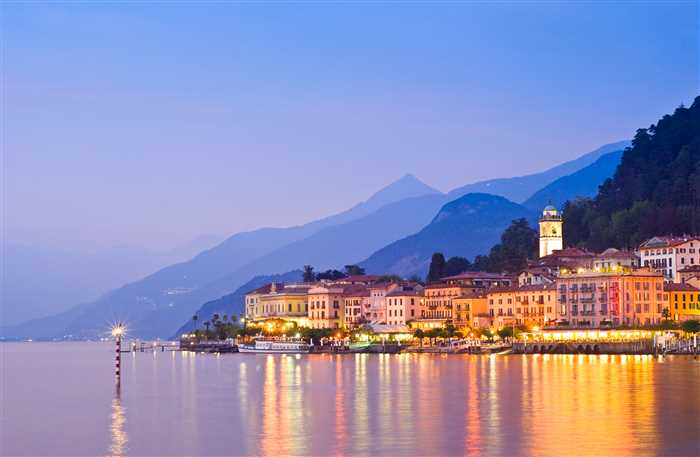 beautiful town of Bellagio on Lake Como in Italy.