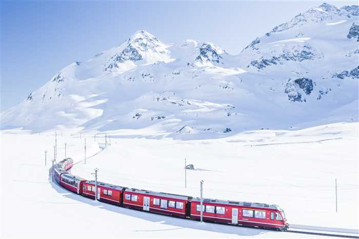 Bernina Express in Winter, Swiss