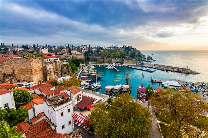 The old harbour in Antalya (Kaleici), Turkey. Old town of Antalya is a popular Tourist hub in Turkey.
