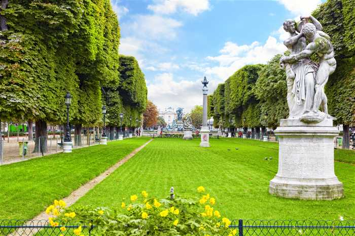 Luxembourg Garden or Jardin du Luxembourg in Paris, France