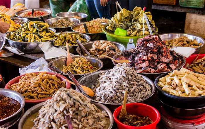 Khmer transitional food, the favorite food in Cambodia.