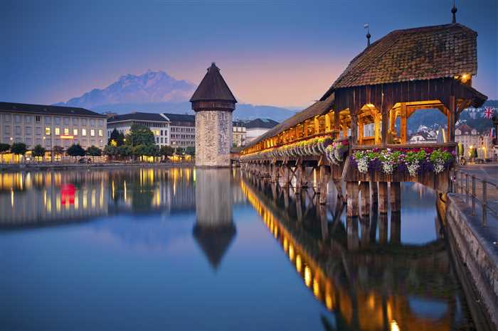 Lucerne, Switzerland Chapel Bridge top attraction