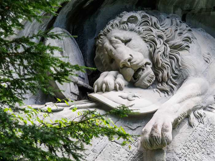 The lion monument in Lucerne, Switzerland