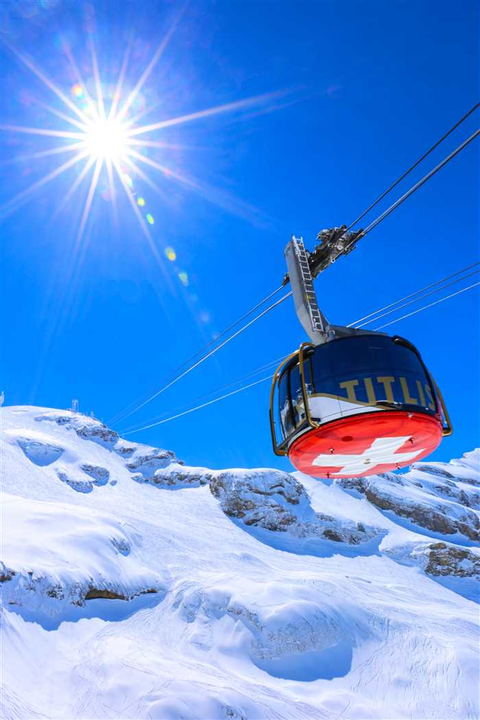 cable car to Mount Titlis in Swiss Alp in Switzerland
