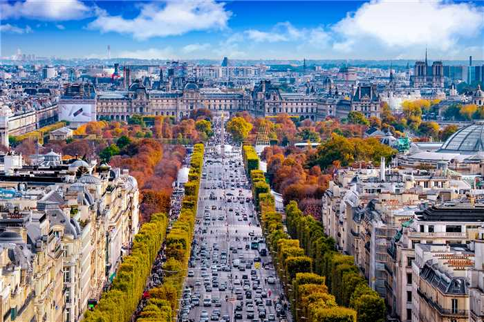 Paris France Champs Elysees top attraction