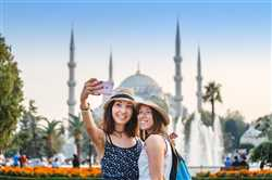 Selfie In Front Of The Blue Mosque In Istanbul, Turkey ,