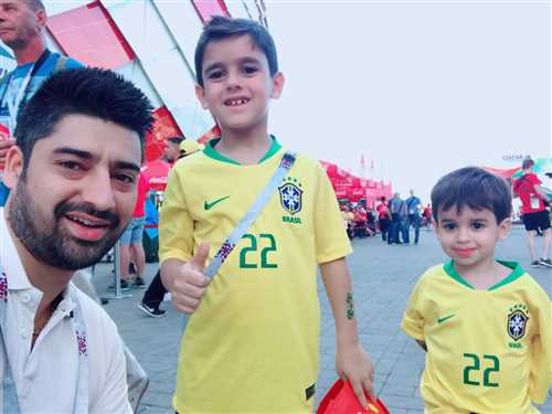 With Young Brazilian supporters in Moscow during Russia World Cup 2018.jpeg