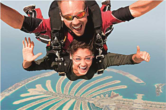Skydiving Over Palm Jumeirah Dubai Holiday , Dubai With Desert Safari, Dhow Cruise & City Tour