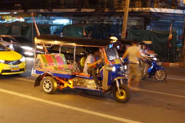 Bangkok Tuk-Tuk. Cheapest mode of transportation