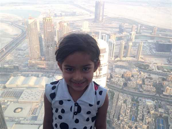 View from the tallest building in the world, Burj Khalifa